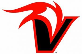 "Logo: Big ""V"" with flame."