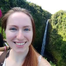 Jastine Honea with waterfall background