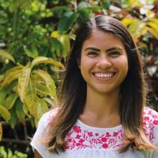Sofia Ferreira with garden background.
