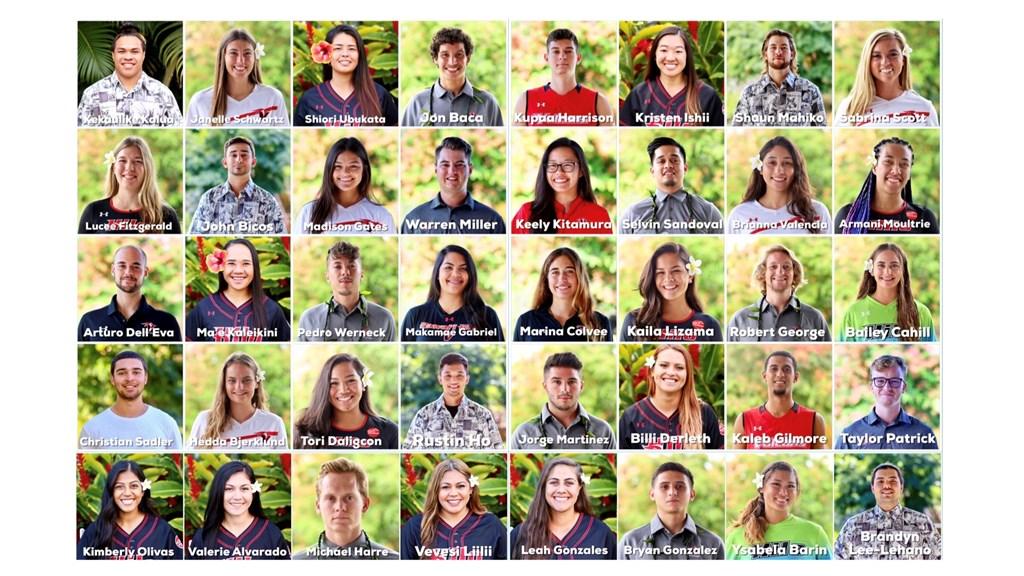Grid of student athletes portraits.