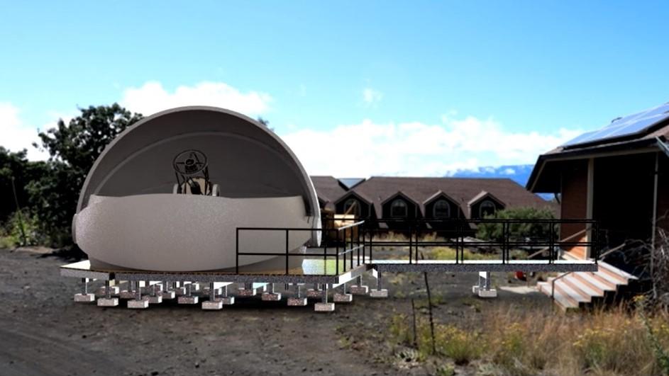 Rendering of UH Hilo telescope.