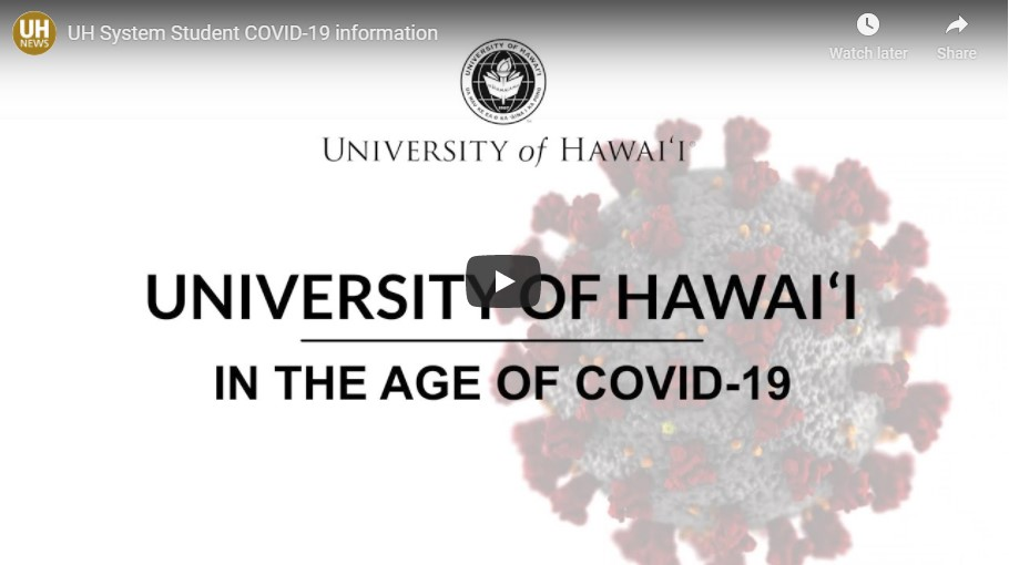 Title slide: University of Hawaii In the Age of COVID-19