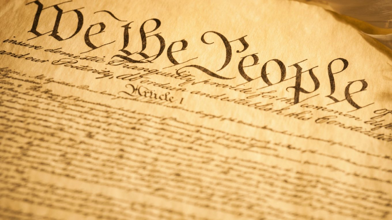 Top of Constitution: We the People...