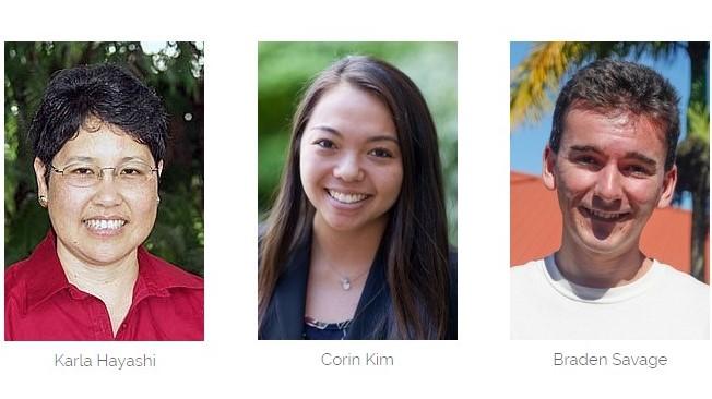 Karla Hayashi, Corin Kim, and Braden Savage.