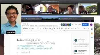 Screenshot online math class