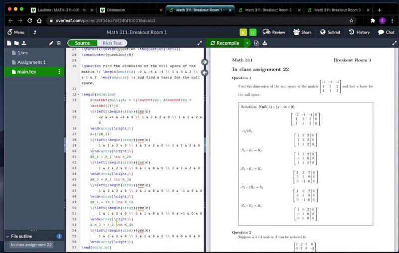 Screenshot of math problem