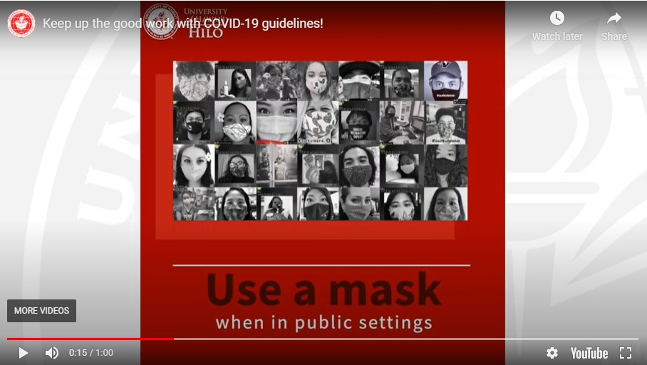 "Video screenshot of ""Use a mask"""