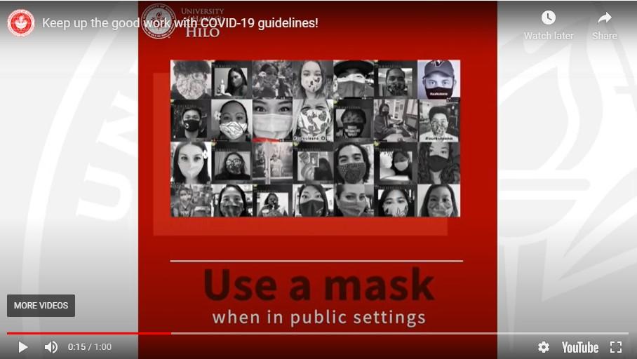 "Video screenshot of ""Use a mask"""