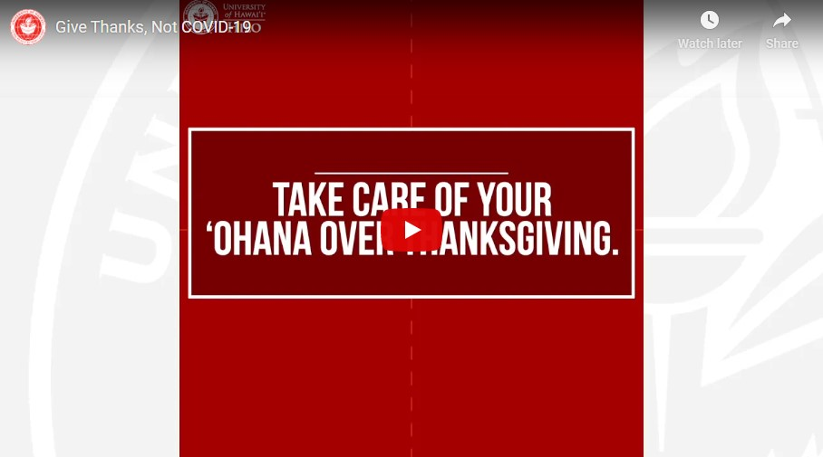 Take care of your ohana this Thanksgiving