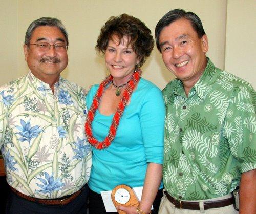 Barry Taniguchi, Cheryl Ramos, and Randy Hirokawa