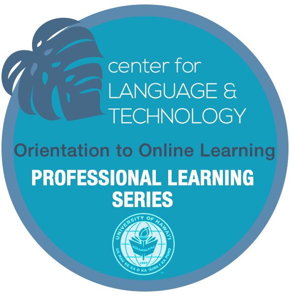 Logo: Center for Language Technology Professional Learning Series
