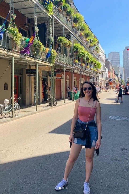 Alexandria on the shop-lined street in New Orleans