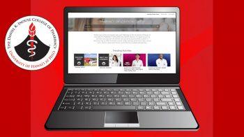 Laptop with screenshot of career portal.