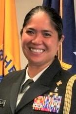 Jill Gelviro in uniform.