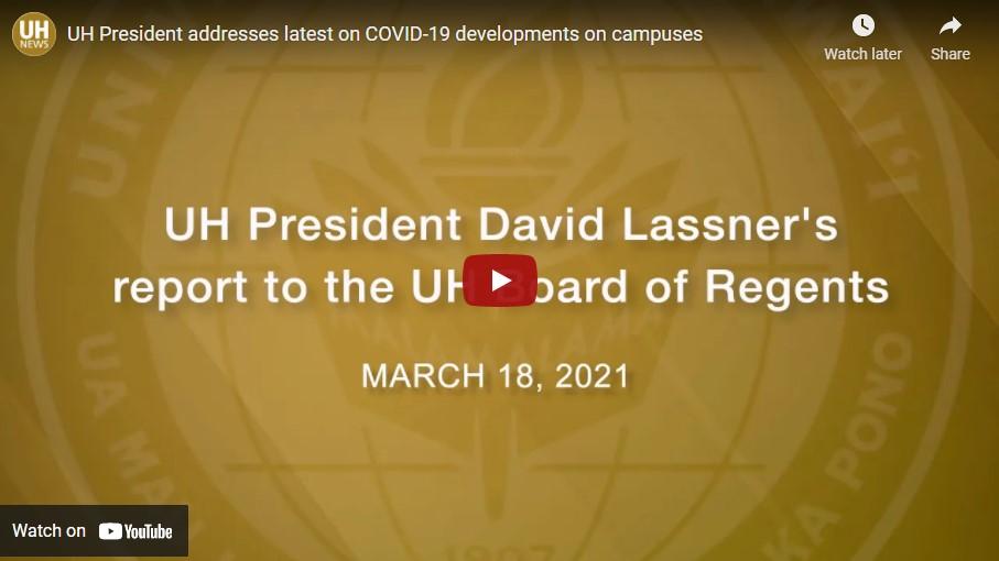 Screenshot David Lassner Remarks to BOR re COVID