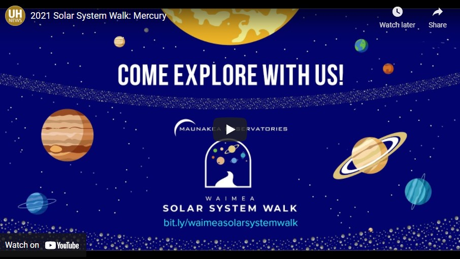 Video Screenshot of Solar System Walk lecture