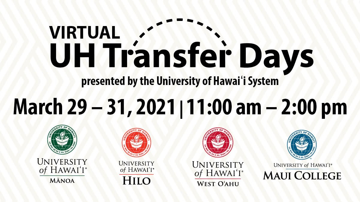 UH Hilo Transfer Days, with logos from four campuses.