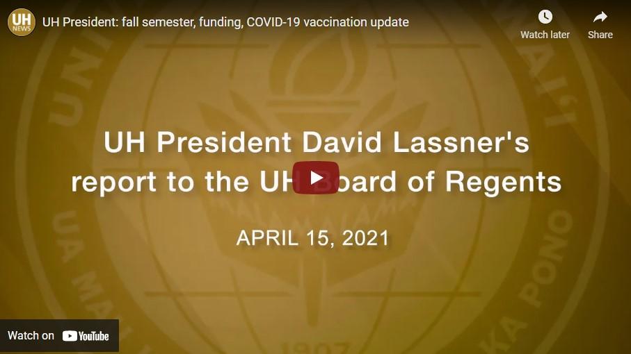 Screenshot Lassner Report to BOR April 15, 2021