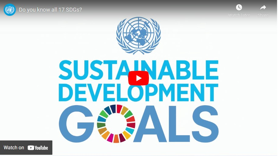 Screenshot of video: Sustanable Development Goals