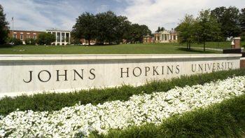 Sign: Johns Hopkins University