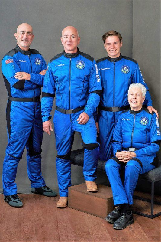 Four crew members.