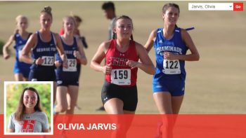 Olivia Jarvis running and profile pic.