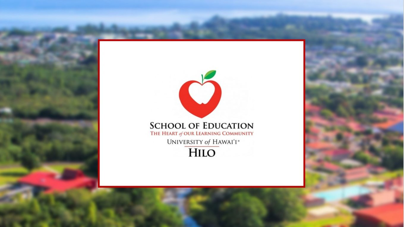 School of Education logo with aerial of campus
