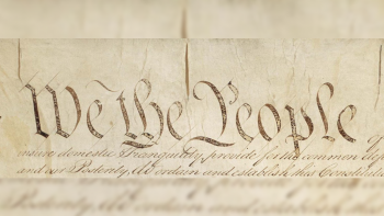 """Image of """"We The People"""" from the Constitution."""