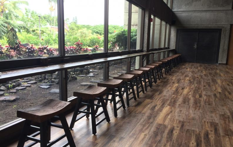 Trend-on: UH Hilo's main dining room is transforming into a cozy, modern eatery
