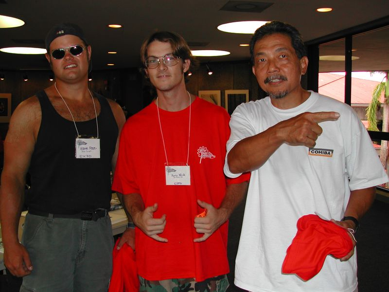 Ezra with friends in 2003 at CC 301