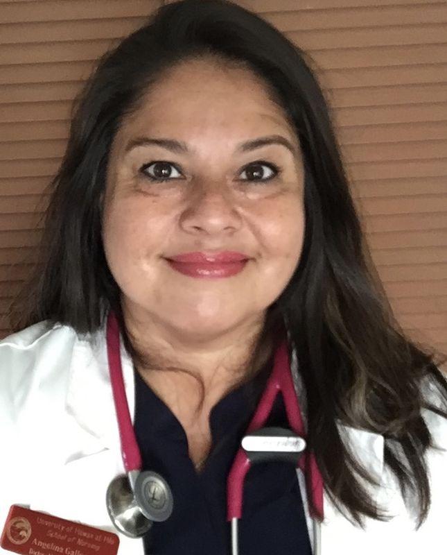 Angelina M. Gallegos in nursing attire