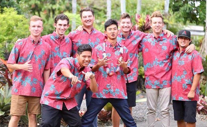 The UH Hilo Golf Team - group photo