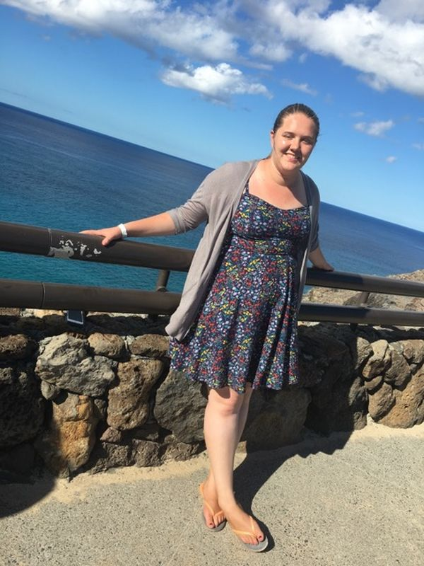 Brooke at the ocean