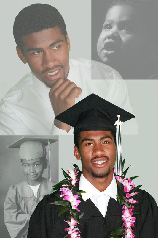 Jordan Graves graduation photo montage