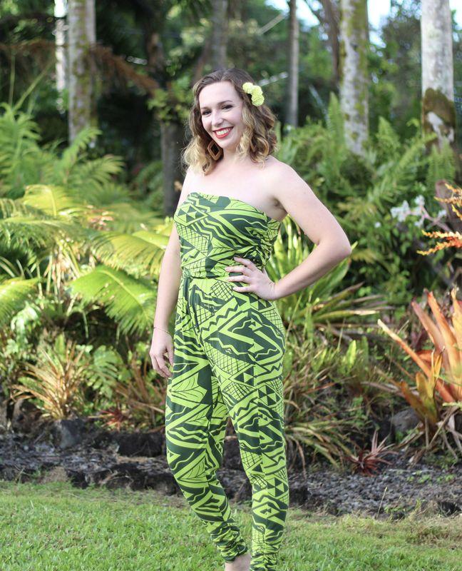 Abigayle outside, wearing green