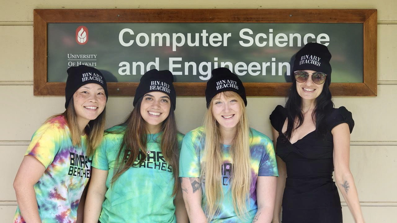 "Computer Science students together ""Binary Beaches"""