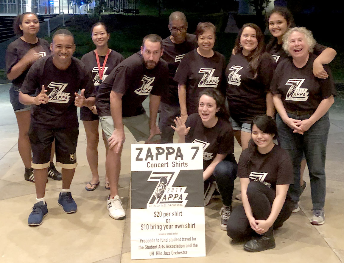 Student and staff at the Zappa concert