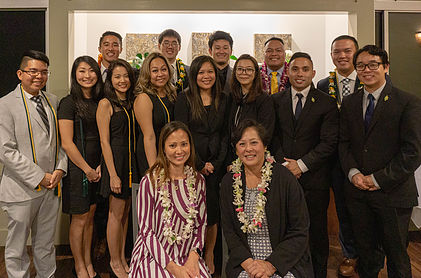 UH Hilo education students are dressed for success with their graduation cords.