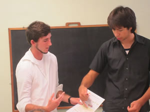 TESOL students practice teaching