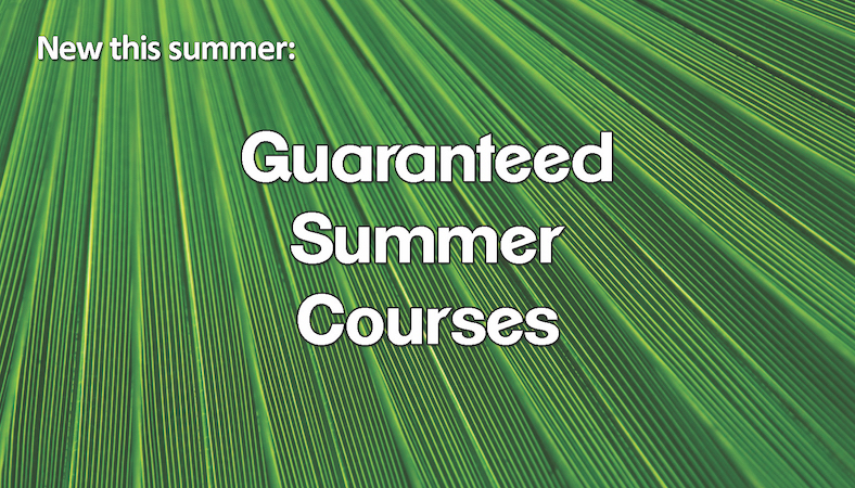 Summer 2018 Guaranteed Courses