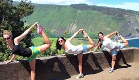 Yoga at Waipio Valley Lookout