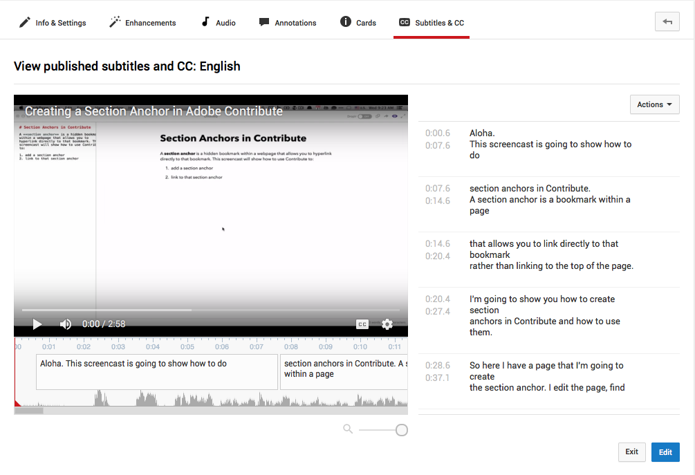 YouTube captioning screenshot