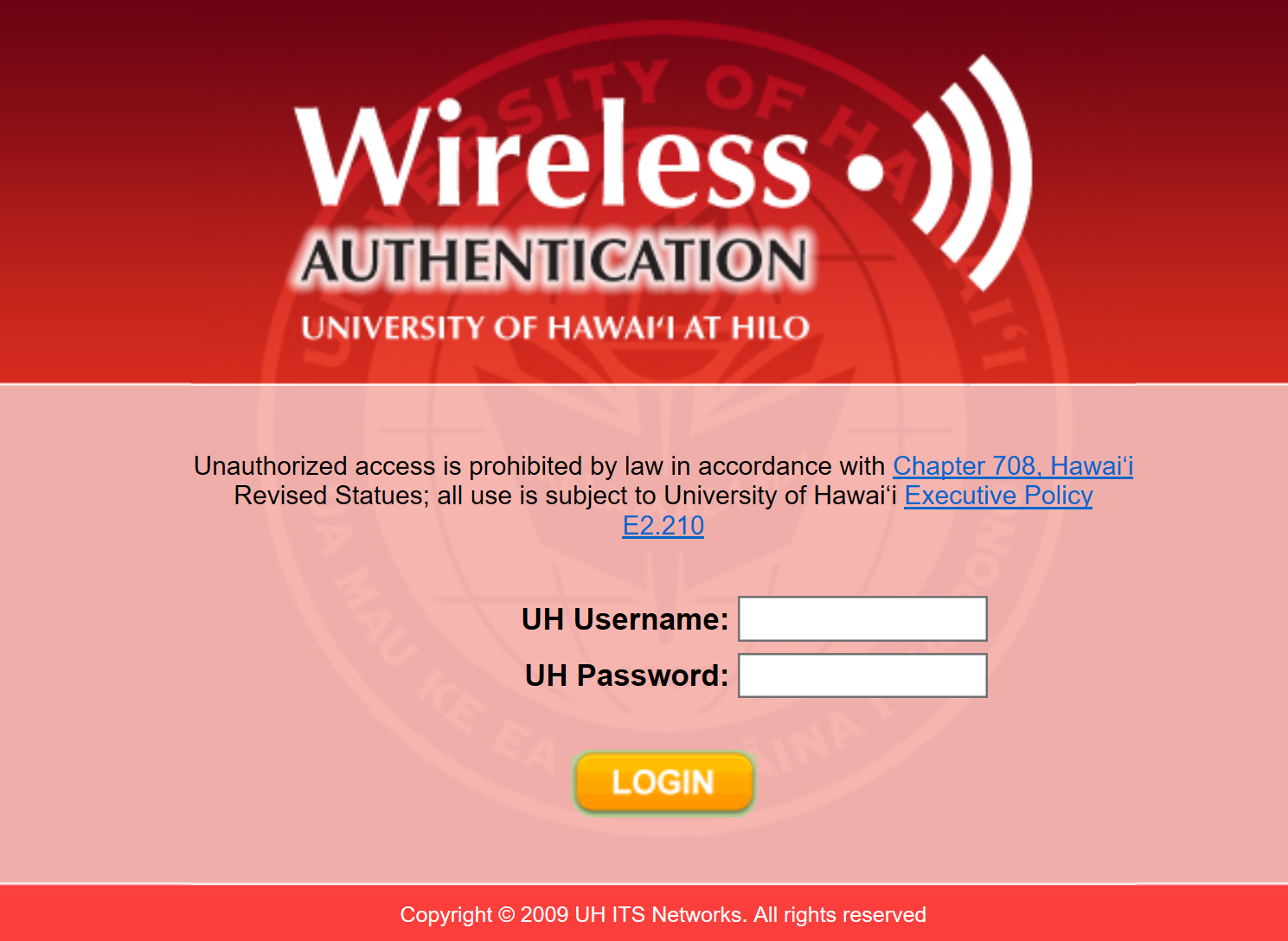 Connecting to the UH Wireless Passthrough