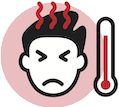 Person with an elevated temperature