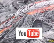 Lava flow with youtube logo on top of it