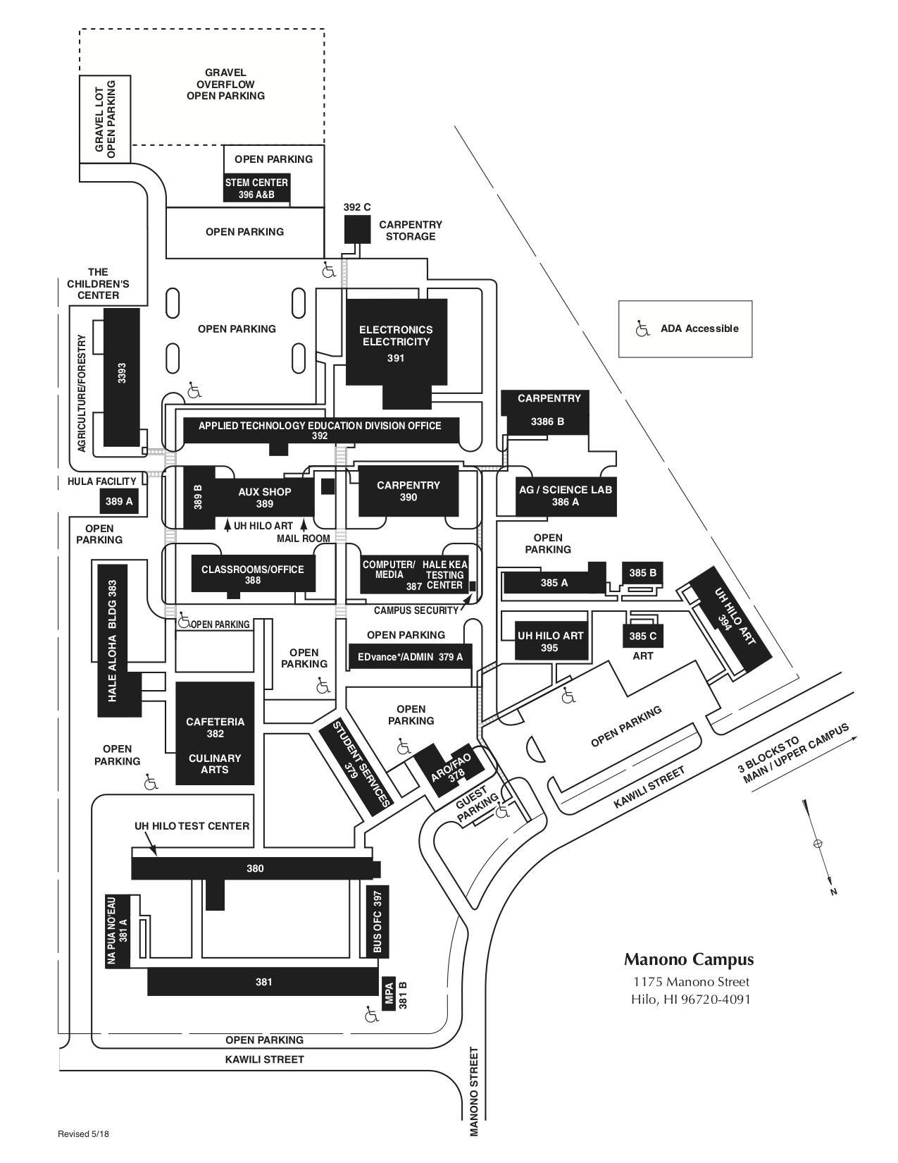 Map of the Manono Campus