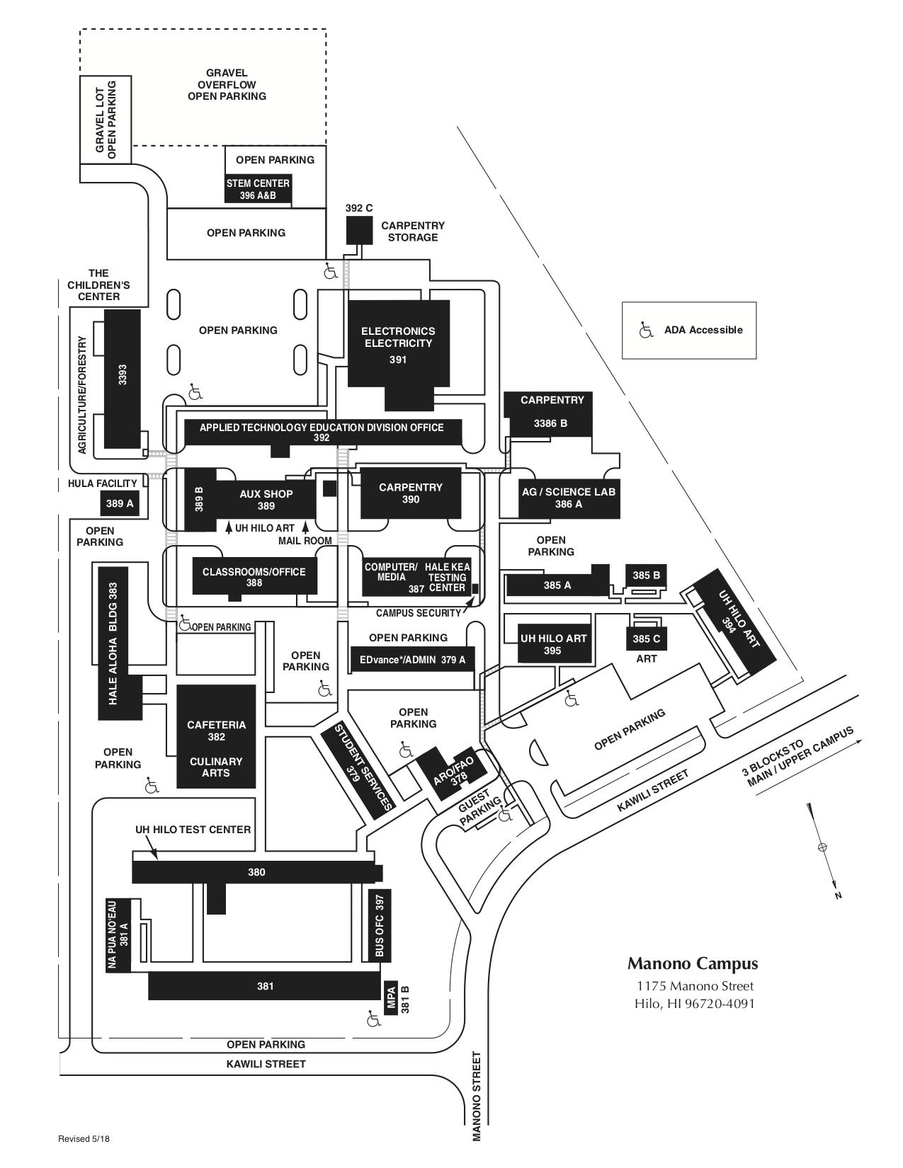 u of a campus map pdf