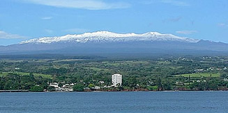 Maunakea with snow