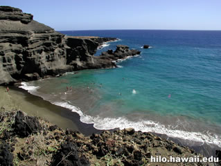 Papakolea (Green Sand Beach) gets its name from the olivine mineral in the sand