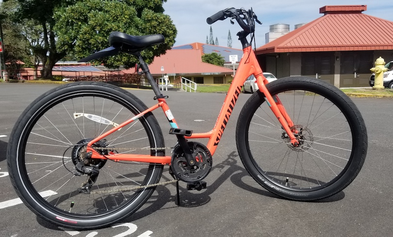One of the UH Hilo bicycles